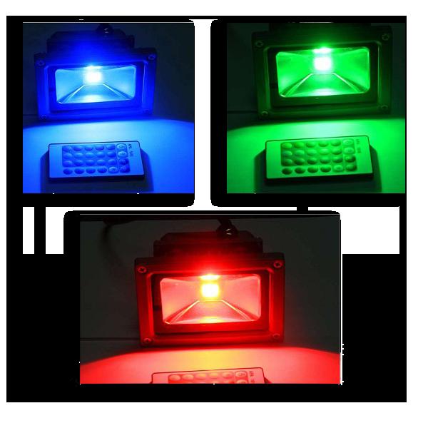 RGB 10W LED Прожектор